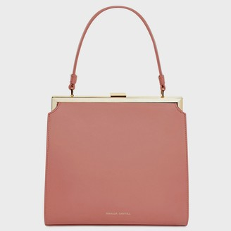 Mansur Gavriel Calf Elegant Bag - Blush