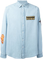 Kenzo denim patched shirt - men - Cotton/Polyester - S