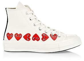 Comme des Garcons Women's Multi Heart High-Top Canvas Sneakers - Size 11 US Women's/ 9 US Men's