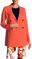Trina Turk Long Sleeve Wool Blend Sweater Coat