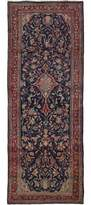 "Ecarpetgallery One-of-a-Kind Mahal Hand-Knotted Runner 3'9"" x 10'10"" Wool Dark Navy/Red Area Rug"