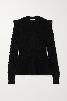 Gabriela Hearst Martha Crocheted Cashmere Sweater - Black