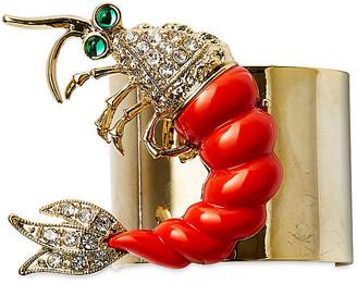 Joanna Buchanan Set of 2 Shrimp Napkin Rings silver/coral