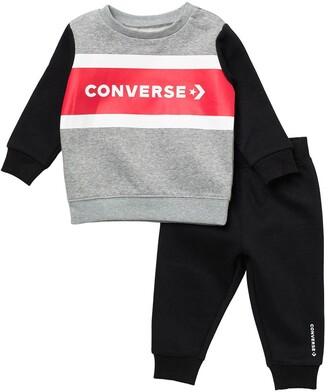 Converse All Star Colorblock Sweatshirt & Joggers Set
