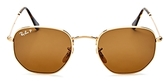 Ray-ban Ray-Ban Icons Hexagonal Polarized Sunglasses, 50mm