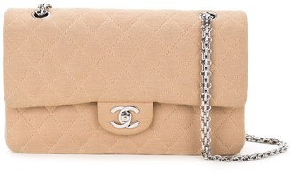 Chanel Pre Owned 2000-2002 Quilted Double Flap Shoulder Bag