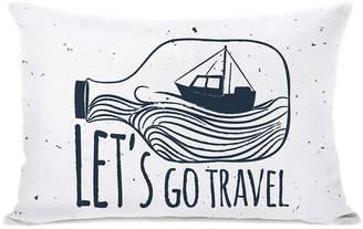One Bella Casa Lets Go Travel Pillow