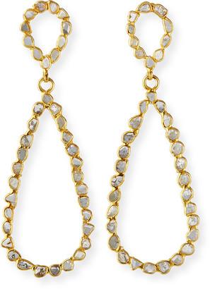 Dina Mackney Diamond Slice Hoop Earrings