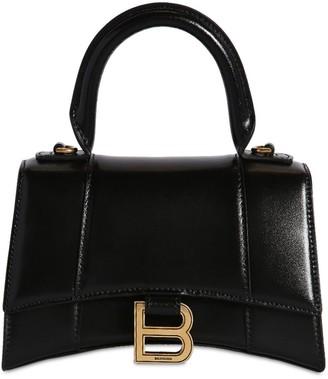 Balenciaga Xs Hourglass Smooth Leather Bag
