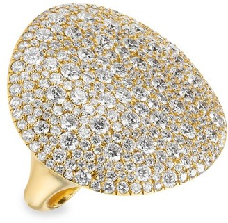 Ippolita Stardust Large 18K Yellow Gold & Diamond East-West Oval Dome Ring