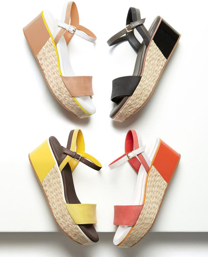 Cole Haan Arden Nubuck Wedge Sandal, Orange Pop