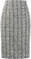 Alexander McQueen tweed pencil skirt - women - Silk/Cotton/Polyamide/Virgin Wool - 48