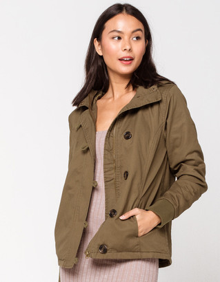 Sky And Sparrow Toggle Button Womens Anorak Jacket
