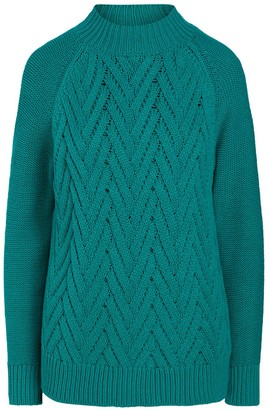 Chaps Women's Textured Mockneck Sweater
