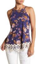 Jolt Floral Crochet Tank
