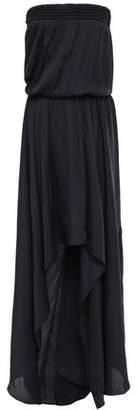 Halston Strapless Shirred Cady Gown