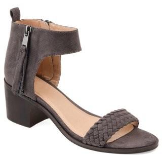 Brinley Co. Womens Woven Tasseled Sandal