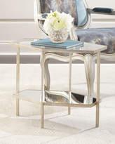 "Global Views Valeria Hexagon Side Table, 18""T"