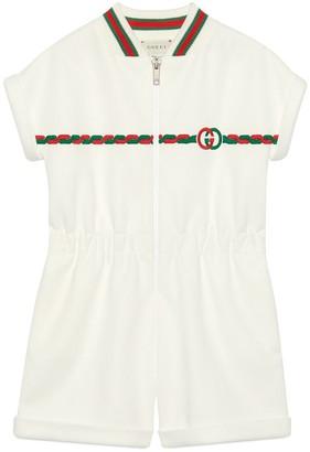 Gucci Children's technical jersey one-piece