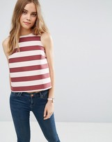 Asos Structured Stripe Shell Top