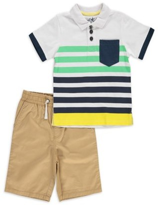 Freestyle Revolution Freestyle Boys Dino Short Sleeve T-Shirt & Pull On Cargo Shorts, 2-Piece Outfit Set, Sizes 4-7