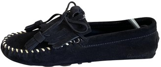 DSQUARED2 Navy Suede Flats