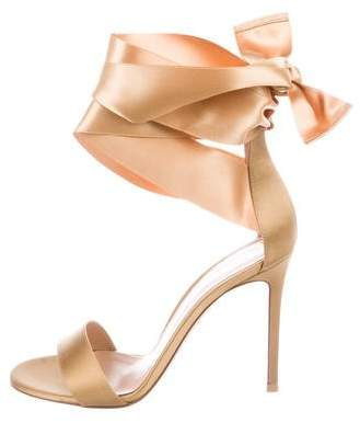 Gianvito Rossi Satin High-Heel Sandals w/ Tags