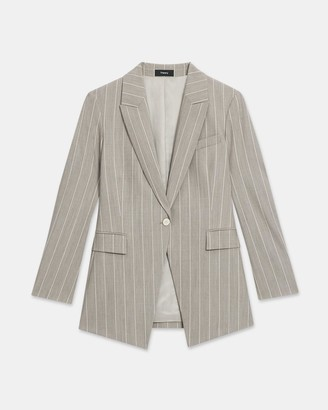 Theory Etiennette Blazer in Striped Good Wool