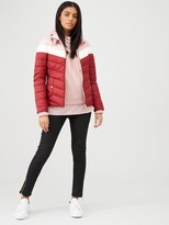 Barbour International Auburn Blocked Quilted Jacket - Red/Pink
