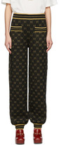 Gucci Black and Gold Drawstring Lounge Pants