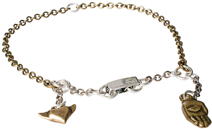 French Connection Hand Charm Bracelet