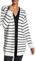 Max Studio Lace-Up Back Striped Cardigan