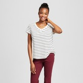 Mossimo Women's V-Neck Striped T-Shirt Supply