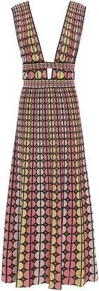 M Missoni Cutout Jacquard-knit Midi Dress
