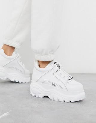 Buffalo David Bitton London classic lowtop platform chunky trainers in white
