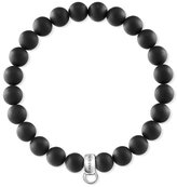 Thomas Sabo Unisex 925 Sterling Silver Obsidian Matt Charm Bracelet of Length 17.5cm X0219-023-11-L17,5