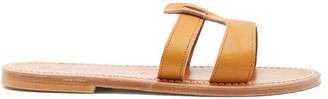 K. Jacques Thanos Leather Slides - Tan