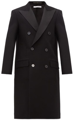 Givenchy Tuxedo Double-breasted Wool Overcoat - Mens - Black