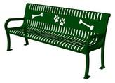 Tucker Pollitt Deluxe Bench Murphy Pet Color: Green