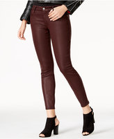 7 For All Mankind Coated Skinny Jeans, Plum Wash