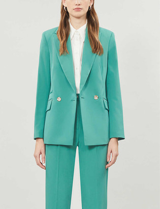 Topshop Single-breasted woven blazer