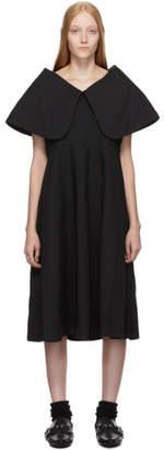 Comme des Garcons Black Oversized Collar Dress