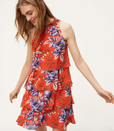 LOFT Tall Floral Tiered Dress