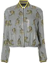 Giamba zebra print bomber jacket