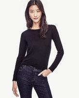 Ann Taylor Extrafine Merino Wool Tie Back Sweater