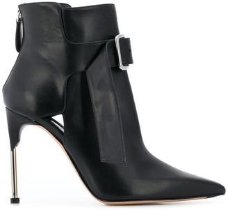 Alexander McQueen front buckle boots