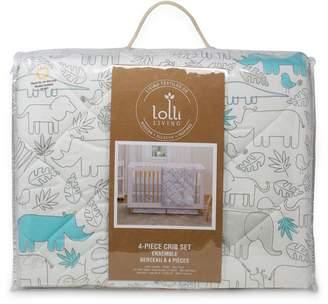 Lolli Living Baby's Safari Cotton 4-Piece Crib Bedding Set