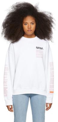 Heron Preston White Facts Crewneck Sweatshirt