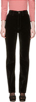 Marc Jacobs Black Velvet High-rise Disco Jeans
