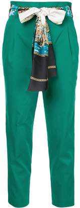 GUILD PRIME print belted cropped trousers